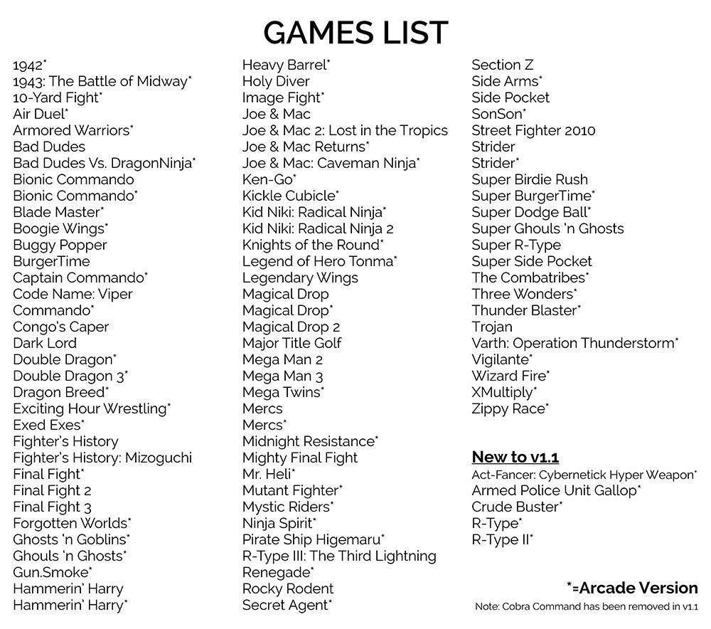 retrocade games